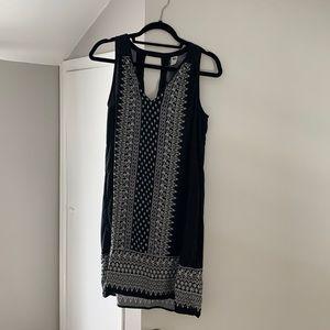Black Patterned Shift Dress